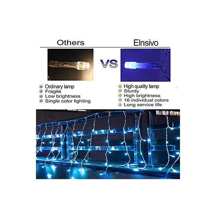 LED-Curtain-Icicle-String-Fairy-Lights-16Color-Changing-Christmas-Curtain-lihgts-Remoto-Control-Garland-Icicle-Lights-droop-1.9ft-LED-Party-Garden-Stage-Outdoor-Waterproof-Decorative-Fairy-Light