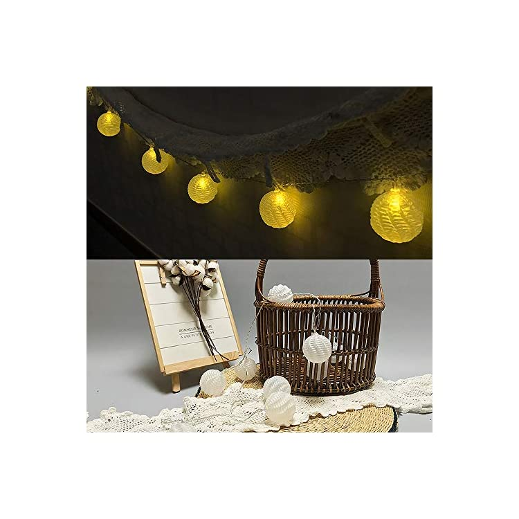 Battery-Powered-Fairy-String-Lights---Design-Ball-A-(White)-Decorative-String-Lights-for-Christmas-Tree,-Home,-Garden,-Wedding,-Party,-Room,-Centerpiece,-Holiday-Decorations