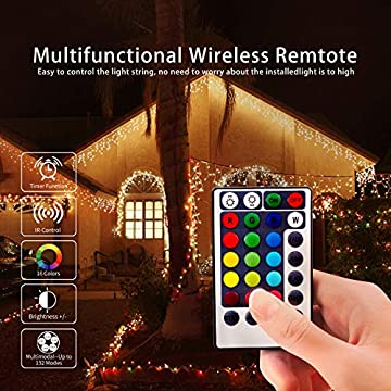 132-Lighting-Modes-16-Colored,-Battery-Operated-Powered-16.4ft-50-Led-Fairy-Lights-Color-Changing.-Led-String-Lights-with-Remote,-with-Timer,-for-Bedroom-Indoor-Christmas-2-Pack