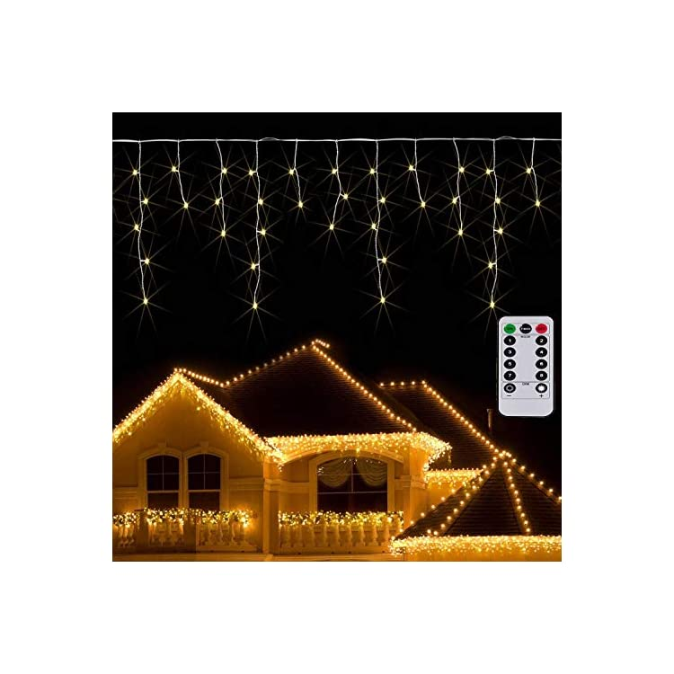 Icicle-Curtain-Light-Battery-Powered-9.8ft-Window-Curtain-Light-Christmas-Garland-Twinkle-String-Light-for-Outdoor-Wedding-Indoor-Thanksgiving-Decoration(Warm-White)