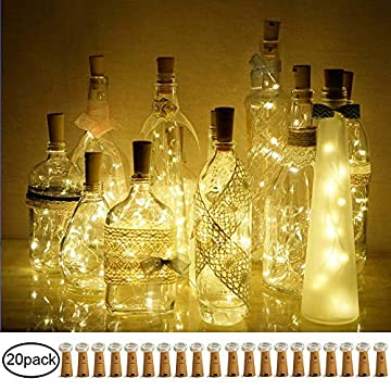 DECORMAN-Wine-Bottle-Cork-Lights,-20-Pack-20-LED-Warm-White-Cork-Shape-Silver-Copper-Wire-LED-Starry-Fairy-Mini-String-Lights-for-DIY/Decor/Party/Wedding/Christmas/Halloween-(Warm-White)