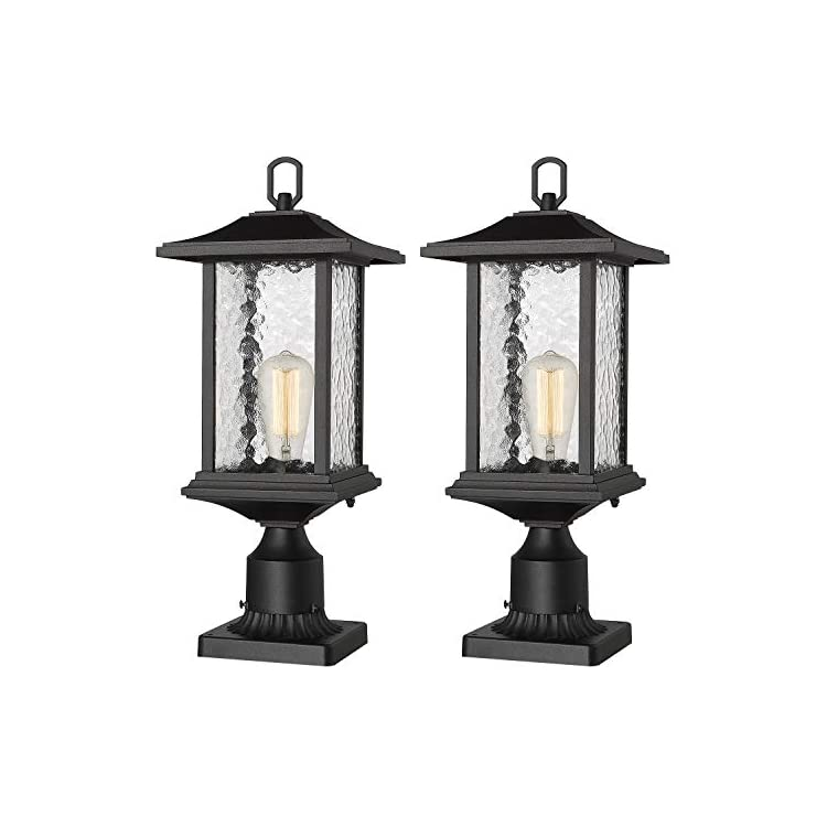 Outdoor-Post-Lights-|-2-Pack-Exterior-Pier-Mount-Lantern-Pole-Lamp-wit