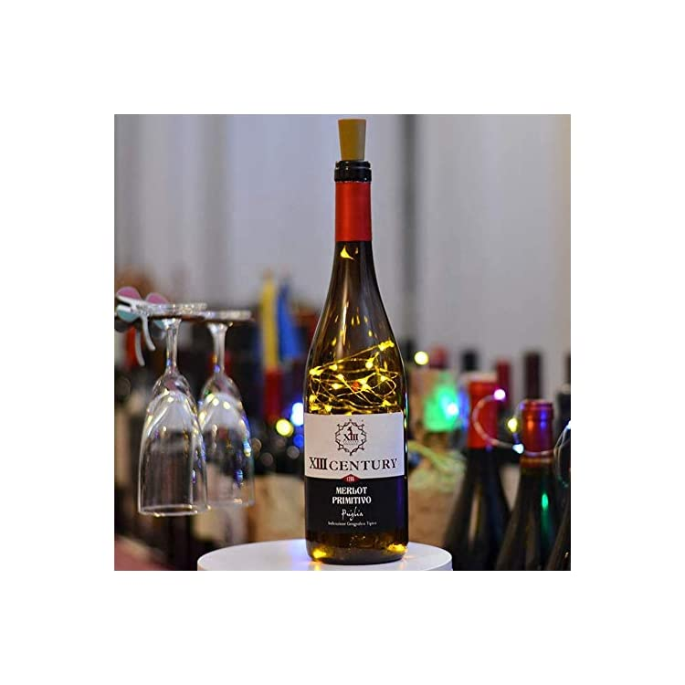 YITING-Wine-Bottle-Lights-with-Cork-7-Dimmable-Modes,-10-Pack-Battery-Operated-20-LED-Cork-Shape-Sliver-Copper-Wire-Fairy-String-Lights-for-DIY,-Party,-Decor,-Christmas,-Halloween,Wedding(Warm-White)
