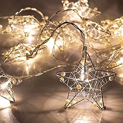 Stainless-Steel-Star-String-Lights-Christmas-Decoration-Fairy-String-Lights-Battery-Operated-10-LEDs-Christmas-Décor-Indoor-Outdoor-Home-Garden-Festival-Wedding-Party-Starry-Lighting