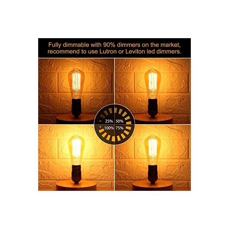 Vintage-Incandescent-Edison-Light-Bulbs-60-Watt,-2700K-Amber-Warm-White,-320-Lumens-Dimmable-Edison-Bulbs,-Antique-Style-Squirrel-Cage-Filament-Light-Bulbs,-ST58,-E26-Base-Edison-Bulb-(6-Pack)