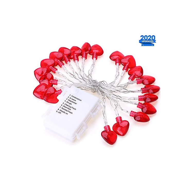 Valentine's-Day-String-Lights-Decorations---8.2ft/2.5m-20-Red-Heart-Shaped-8-Flash-Modes-Battery-Operated-Twinkle-Fairy-Indoor/Outdoor-Decorative-Lights-for-Home/Bedroom/Wedding/Party/Valentine-Decor