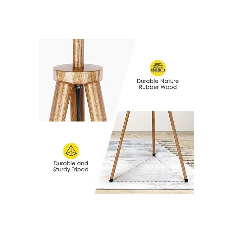 Tripod-Floor-Lamp,-Lamp-Shade-with-E26-Bulb-Base,-Stylish-Tall-Standin