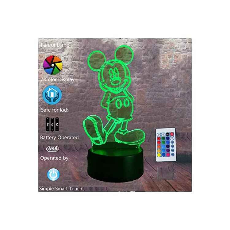 Hot-Glowing-Cartoon-3D-Girls-Mickey-Boys-Mice-Mouse-LED-7-Colors-Chang