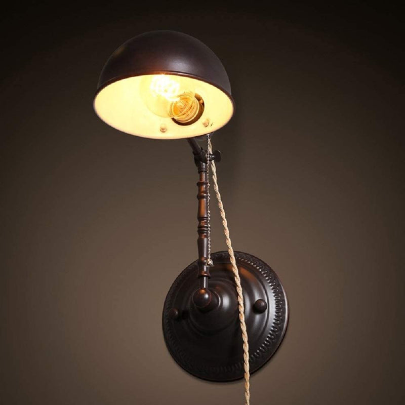 Wall-Sconce-Lamp,1-Light-Plug-in-Wall-Light-Retro-Bronze-with-Cord-and