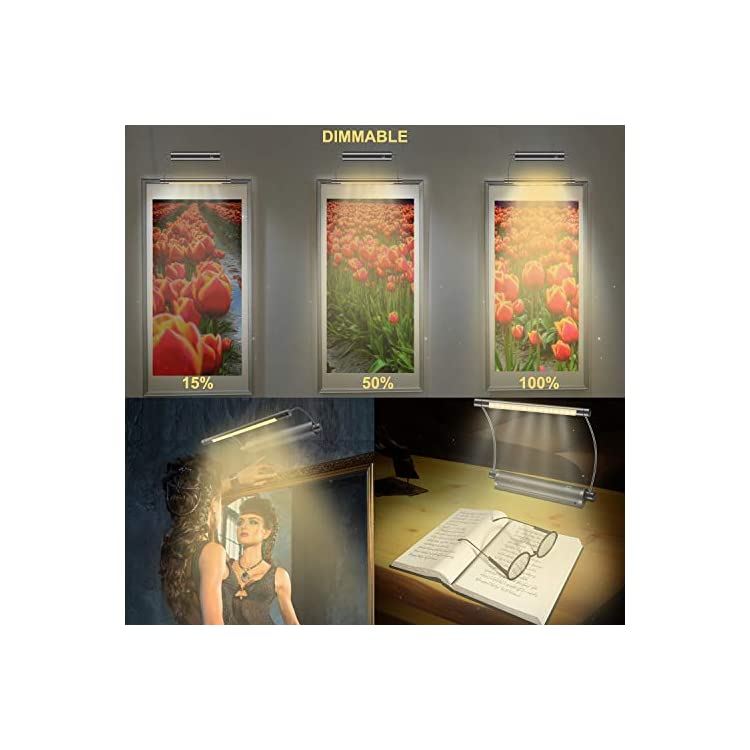 Picture-Light-Cordless-Display-Lights-Battery-Powered-LED-Accent-Light-Remote-Control-Uplight-Artwork-Lighting,-Swivel-Lamp-Head-with-Timer-Dimmer,-Stick-Art-Lights-for-Painting-Frame-Mirror