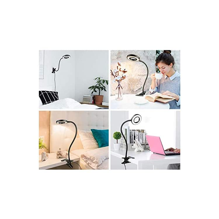 LED-USB-Reading-Light,-Dimmable-Clamp-Lamp-for-Bed-Headboard,-Bedroom,