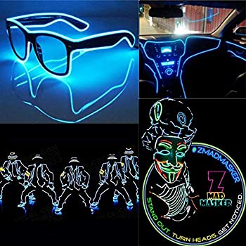 EL-Wire-16.4ft/5M-Glow-Neon-Lights-Kit-Portable-Battery-Operated-for-D