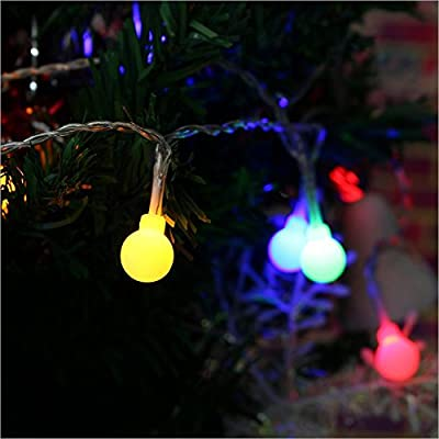 Globe-Decorative-String-Lights,LED-Hanging-Indoor/Outdoor-String-Lights-for-Garden,Xmas-Party,Bedroom,Dorm,Window-Curtain-Backyard,Party,Wedding(Warm-White)-(Ball-2)