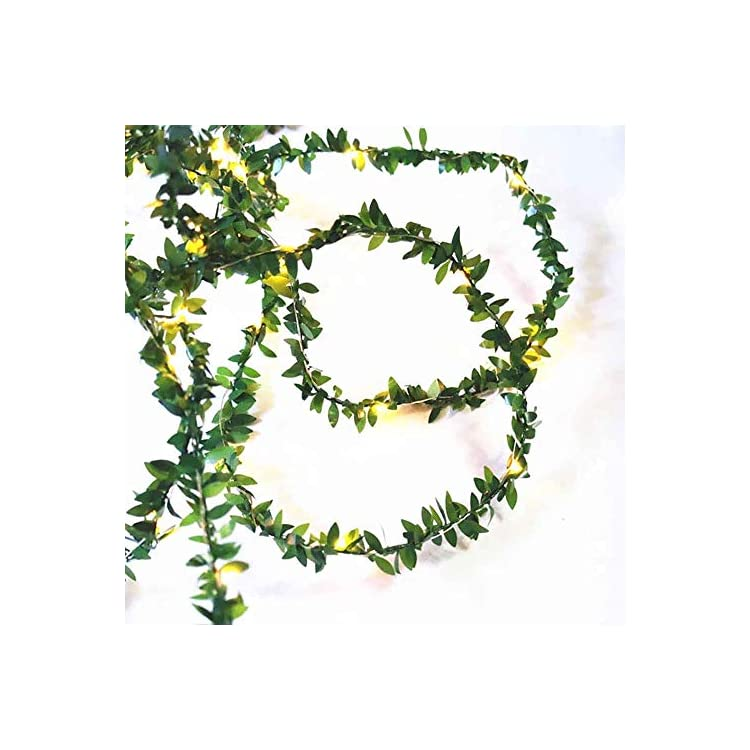 100LEDs-Solar-Powered-Green-Leaf-Rattan-Garland-String-Light-Warm-White-Wedding-Party-Christmas-Holiday-Patio-Decoration-33ft,-UL588-Approved