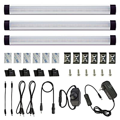 Dimmable-LED-Under-Cabinet-Lighting-Under-Counter-LED-Light-Bar-Linkable-Kit-with-Rocker-Switch-Kitchen,Showcase,Shelf-Lighting(3-Panel-Kits-Warmwhite)