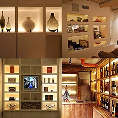 Under-Cabinet-Lighting---Bookshelf-Light-Bar---UL-listed---Low-Profile---Energy-Saving---Cool-to-Touch---Soft-Warm-White