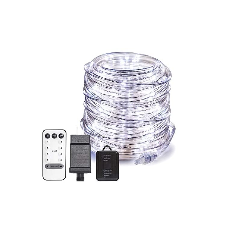 66FT-200-LED-Rope-Lights-Outdoor-Plug-in-String-Lights-with-Timer-Remote-Control-Waterproof-Rope-Lighting-for-Outdoor,-Party,-Christmas,-Garden,-Patio(White)