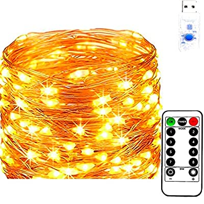 LED-String-Lights-66ft-with-200-LEDs,-Starry-Fairy-Lights,-Dimmable-with-Remote-Control-Waterproof-Decorative-Copper-Lights-for-Bedroom,-Garden,-Patio,-Parties-(Warm-White)
