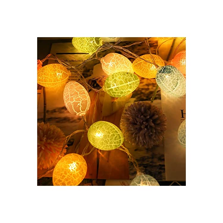 13.2FT-30Lights-Easter-Decoration-Easter-Eggs-Lights,Easter-String-Lights-Battery-Operated-Decoration-Fairy-String-Lights-Halloween-Easter-Spring-Party-Indoor-Outdoor-Birthday-Bedroom-Decor