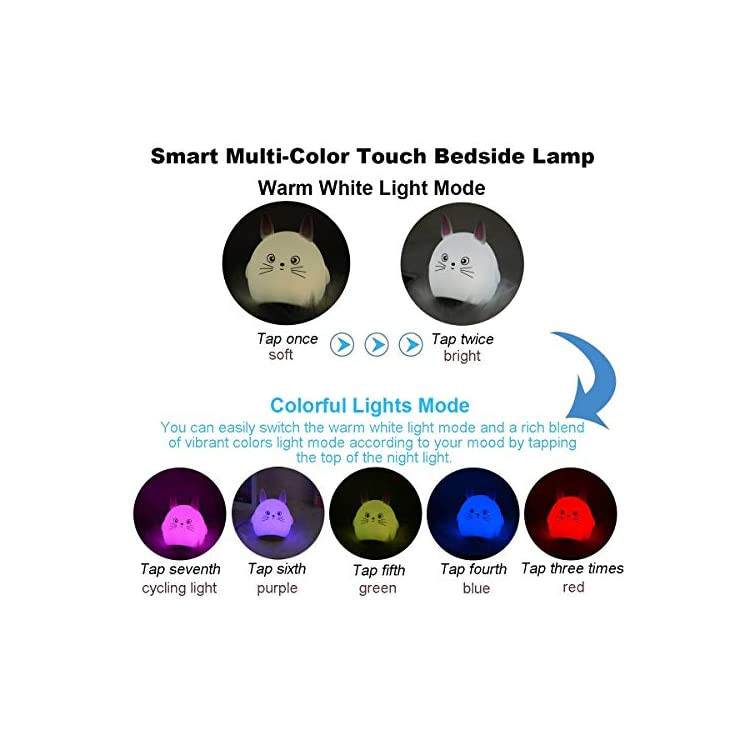 Colorful-Night-Light-Bluetooth-Music-Speaker,-Portable-Wireless-Cartoon-Bluetooth-MP3-Player,-Touch-Control-7-Color-LED-Themes-Bedside-Table-Lamp-for-Bedroom-Christmas-Birthday-Gift-for-Children