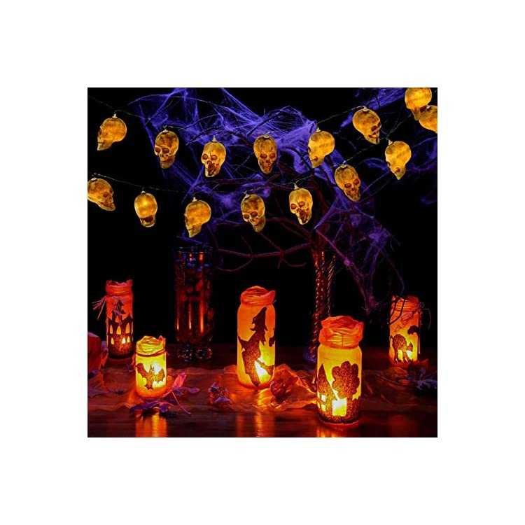 Spooky-Skull-Halloween-String-Lights,-20-LED-Battery-Operated-Skull-Lights-String-with-2-Lighting-Modes-(Steady-on/Flash)-for-Festival,-Party,-Halloween-Decoration,-Indoor/Outdoor