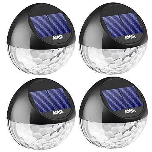 Solar-Fence-Lights-Outdoor,-4-Pack-22LM-Deck-Lights,-Auto-On/Off-Dusk-