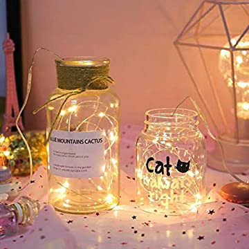 Fairy-Lights-Battery-Operated,-9.8-ft-30-Micro-Starry-LED-Warm-White-Decorative-Copper-String-Lights-for-Indoor-Outdoor-Wedding,-Party,-Bedroom,-Mason-Jar,-Crafts,-Home-Accents-and-More