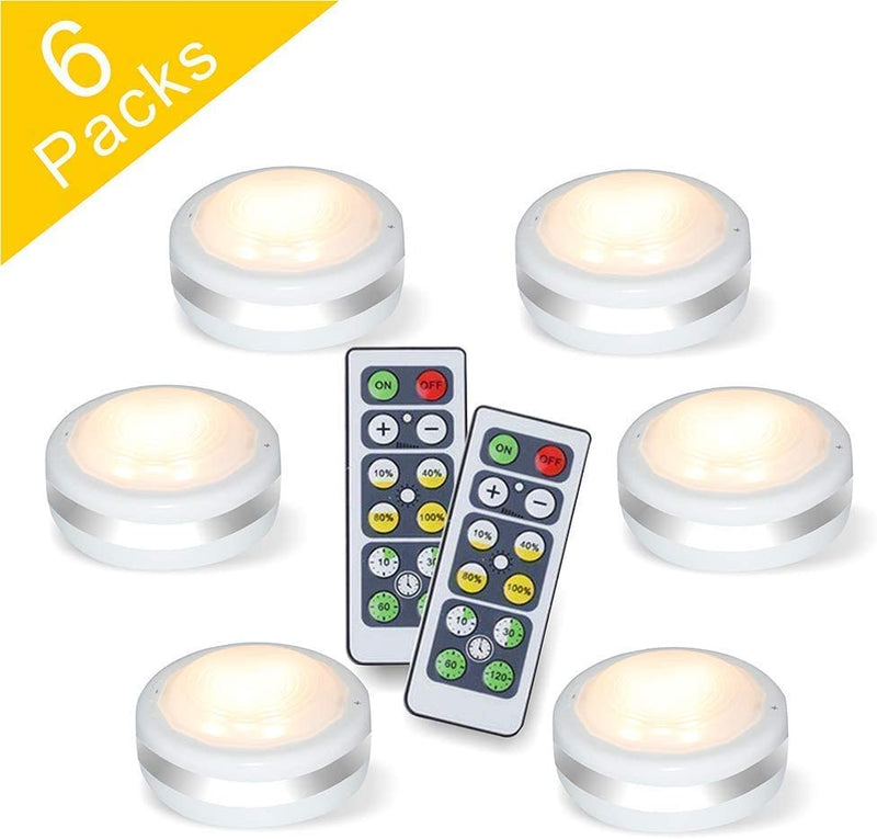 Puck-Lights-With-Remote,-Wireless-Led-Puck-Lights-Battery-Operated,-Le