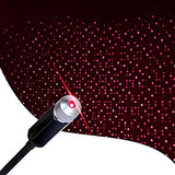 Adjustable-Romantic-Star-Projector-Night-Lights,-USB-Night-Light,-Portable-Atmosphere-Decorations-Lamp-for-Bedroom,-Car,-Party,-Camping,-Walls,-Ceiling-and-More,-Red-Light