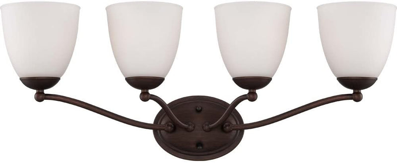60/5154-Patton-Energy-Saving-Four-Light-Vanity-Bulbs-Included-CUL-Damp-Location-Frosted-Glass-Prairie-Bronze-Fixture