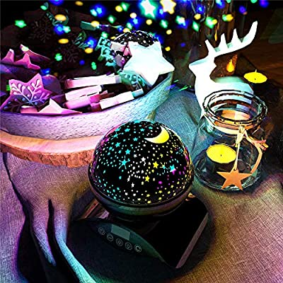 Baby-Star-Night-Light,-Christmas-Gift,-Best-Night-Lights-Projector-for-Kids-Adults-and-Nursery-Decor,-Rotating-Remote-Control-and-Timer-Design-Projection-Lamp,-Colorful-Lighting.(Black)