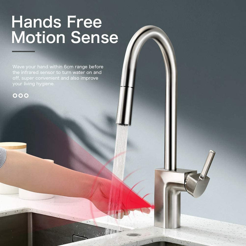 Kitchen-Faucets-Hands-Free,-Two-Sensor-Touchless-Kitchen-Faucet-with-P