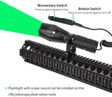 Souyos-Green-Hunting-Flashlight,350-Yard-Zoomable-Green-Light-LED-Flas
