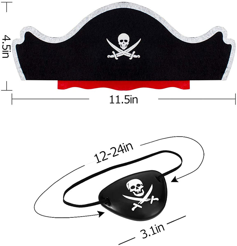 Alphatool-24-Pcs-Skull-Print-Pirate-Hats-Eye-Patches-Set,-12-Pieces-Ca
