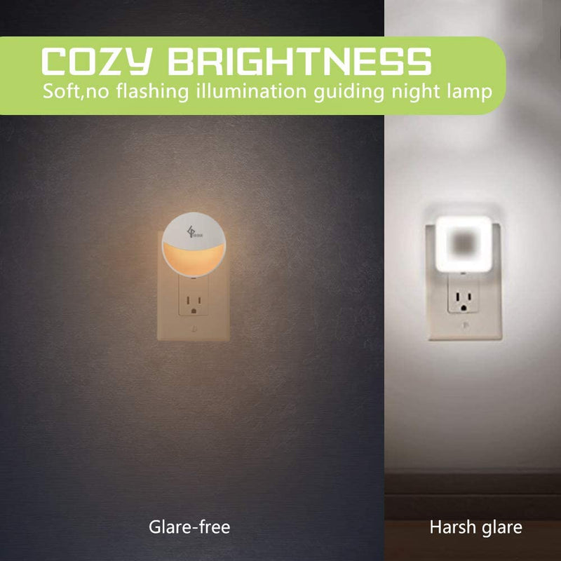 Plug-in-Night-Light-Smart-Dusk-to-Dawn-Sensor,-Warm-White,-Automatic-L