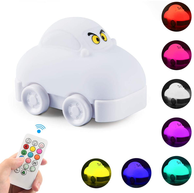 Night-Light-for-Kids,-Cute-Car-Silicone-Kids-Night-Light-with-Touch-Se