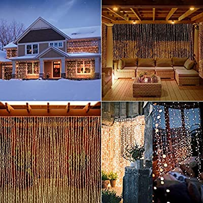 600-Led-Window-Curtain-String-Light,-Twinkle-Fairy-Hanging-Wall-Icicle-Light-for-Outdoor-&-Indoor,-Wedding-Backdrop,-Garden,-Bedroom,-Holiday-Christmas,-Halloween---19.6-ft-X-9.8-ft