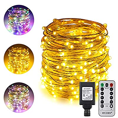 ErChen-Dual-Color-LED-String-Lights,-66-FT-200-LEDs-Plug-in-Silvery-Copper-Wire-8-Modes-Dimmable-Fairy-Lights-with-Remote-Timer-for-Indoor-Outdoor-Christmas-(Multicolor/Warm-White)