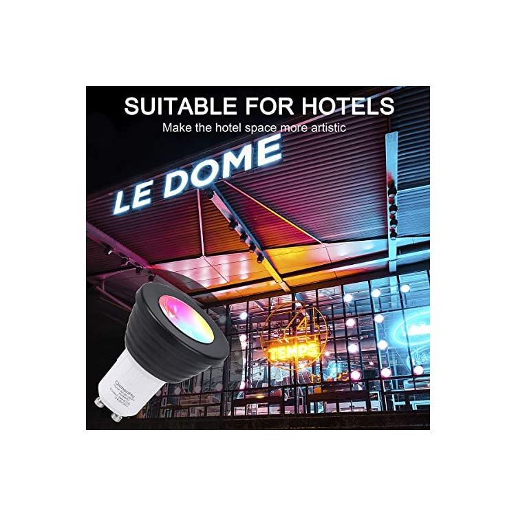 Light-Bulbs,3W-dimming-RGB-Color-Changing-Light-Bulb,45°-Beam-Angle-Memory---Sync---Dimmable,GU10-Base,24-Key-Remote-Control,16-Color-Lights-(4)