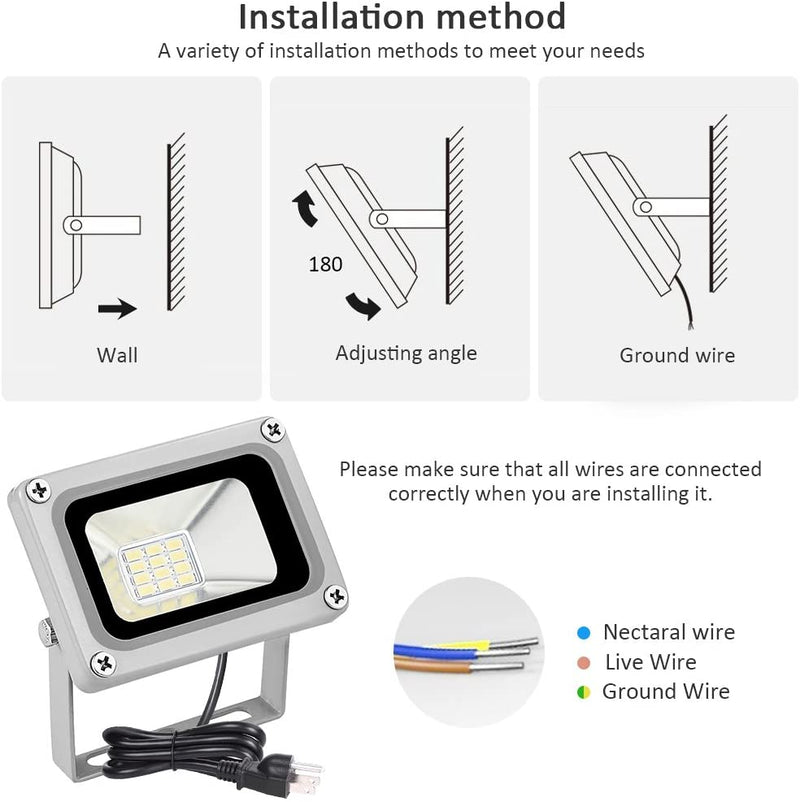 Missbee-10w-LED-Flood-Light-1100ml-Outdoor-Security-Light-with-US-3-Pl