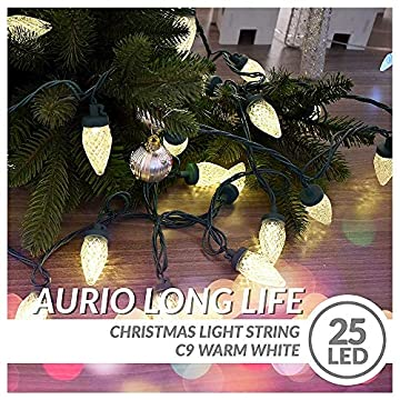 Christmas-Lights,-12.3ft-25-Count-LED-End-to-End-Connectable-C9-Christmas-String-Lights,-Light-Strings-for-Party,-Wedding,-Indoor-&-Outdoor-Christmas-Tree-Decoration,-Warm-White