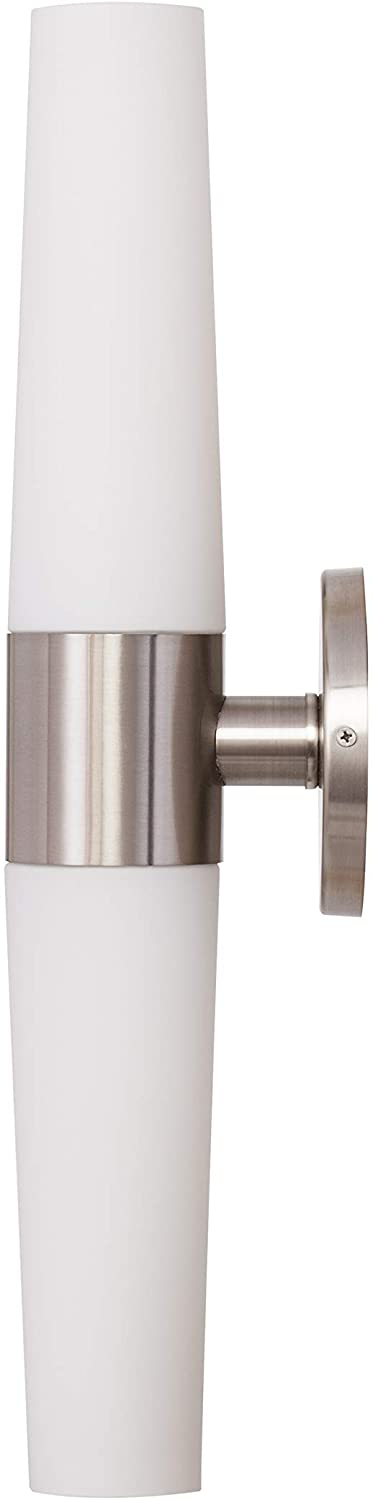 AMZ3300TL-Laurian-Wall-Sconce,-White,-Brushed-Nickel