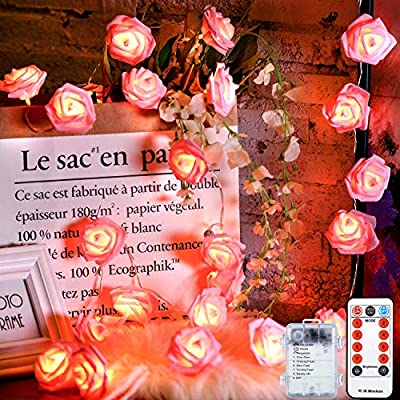 Valentine's-Day-Rose-String-Light,-6.5-ft-20-LEDs-Flower-Light,-Battery-Powered-with-8-Modes,-Remote-Control-and-Timer-Romantic-Decoration-for-Wedding,-Valentines-Day,-Birthday-(Pink-Rose)