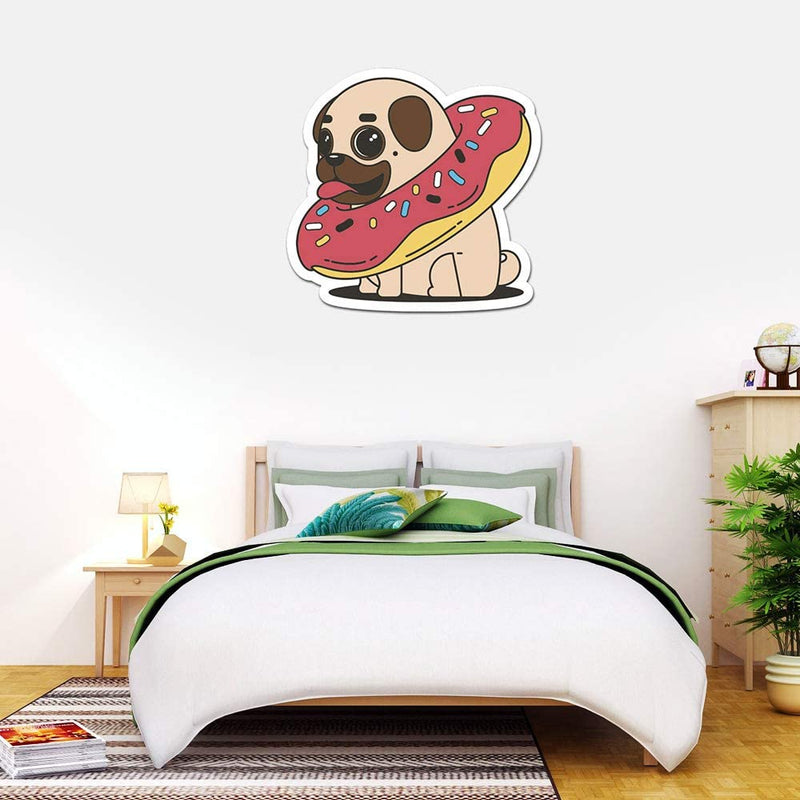 MightySkins-Donut-Pug-48'-Peel-and-Stick-Wall-Art-Removable-Cute-Styli