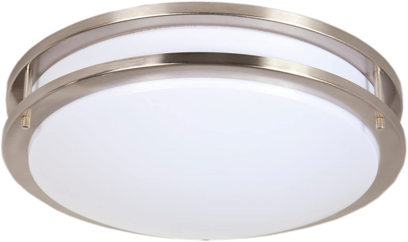 14'-Satin-Nickel-LED-Ceiling-Mount-Light-Fixture---Warm-White,-1650-Lu