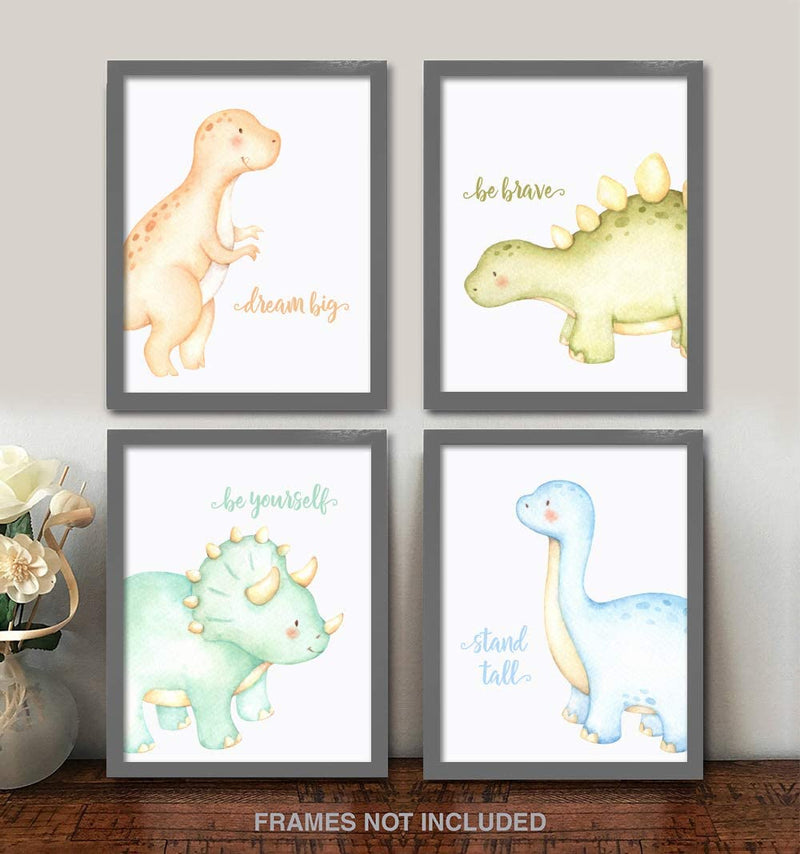 Dinosaur-Nursery-Art-Wall-Decor---8x10-Unframed-Set-of-4-Prints---Baby