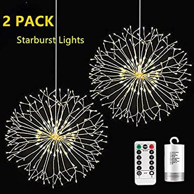 Decem-Firework-Lights,-2-Pack-198-LED-Bouquet-Shape-Fairy-String-Lights-Battery-Operated-Twinkle-Starburst-DIY-Lights-with-Remote-Control-for-Christmas,-Home,Party,-Outdoor-Decoration-(N-P-Warm-White)