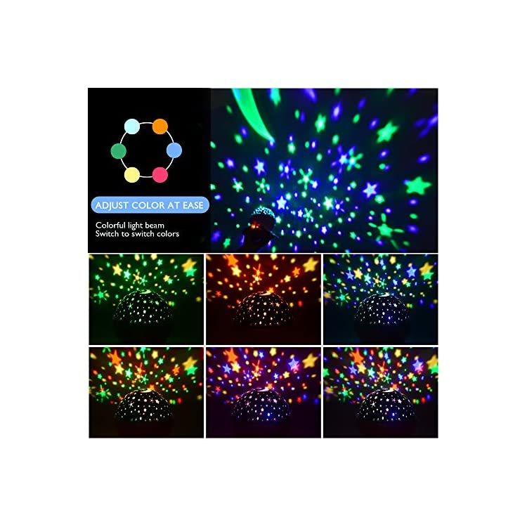 Night-Lights,-Rechargeable-Star-Projector-with-Remote-Control-and-Time