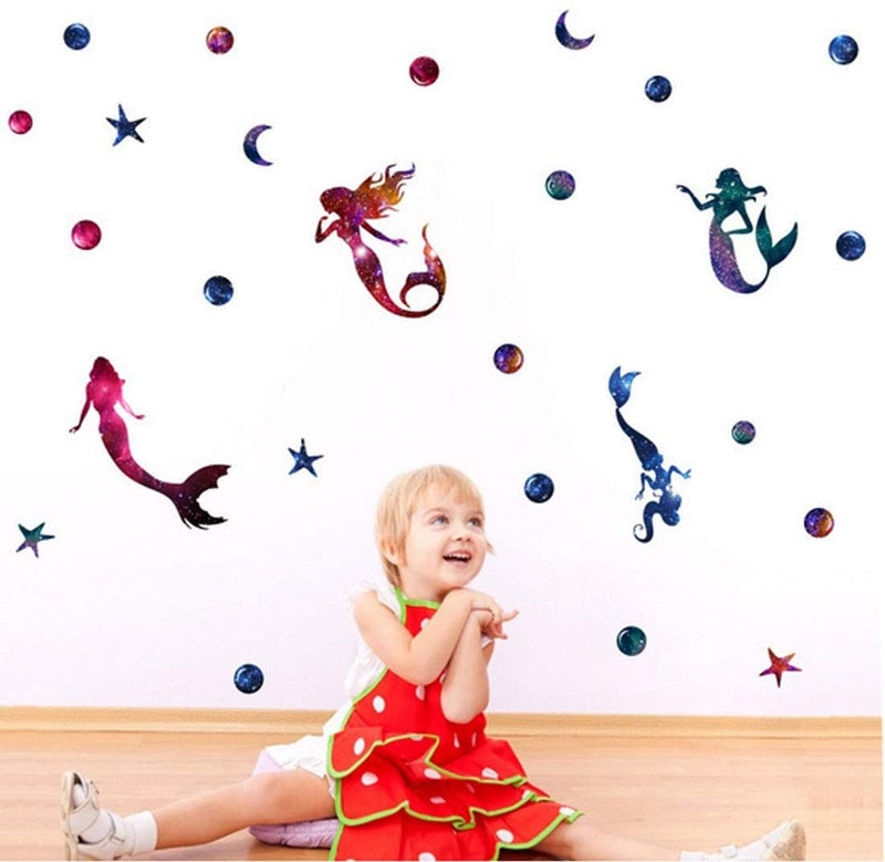 Mermaid-Wall-Decals,-Starry-Sky-Stickers-with-Mermaid-Starfish-Ocean-T