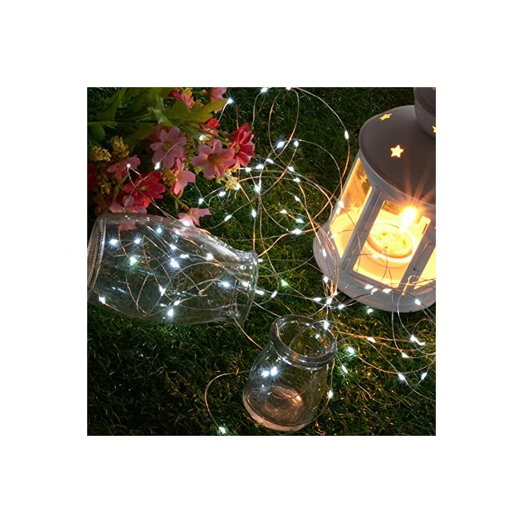 33ft-8-Modes-Solar-Powered-100LED-Fairy-String-Lights-for-Patio-Garden-Birthday-Wedding-Party-Festival-Indoor-Outdoor-Decor---[Cold-White]